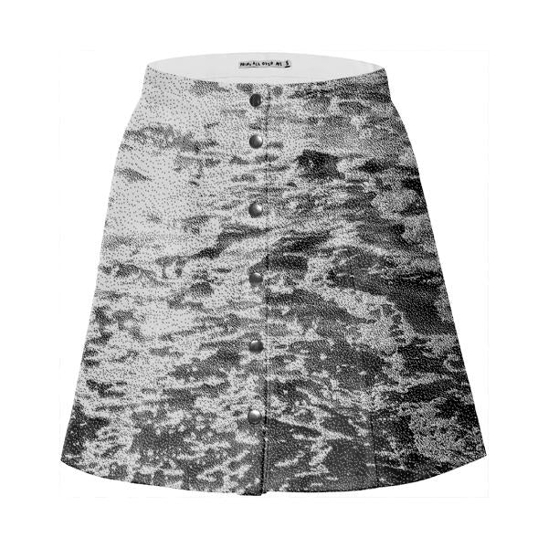 PAOM, Print All Over Me, digital print, design, fashion, style, collaboration, giphy, Mini Skirt, Mini-Skirt, MiniSkirt, Beach, Dither, spring summer, unisex, Cotton, Bottoms