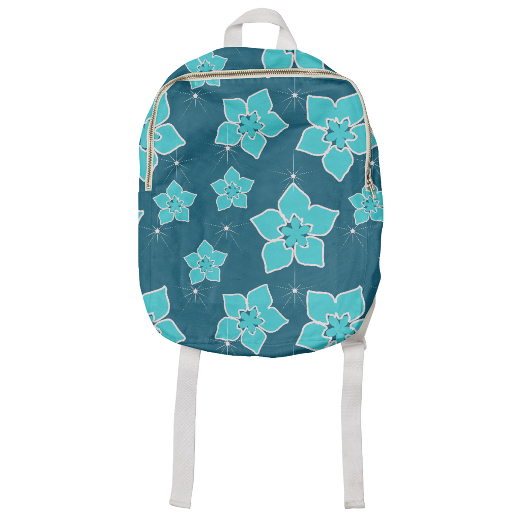 Blue Flowers Explosion Kids Backpack