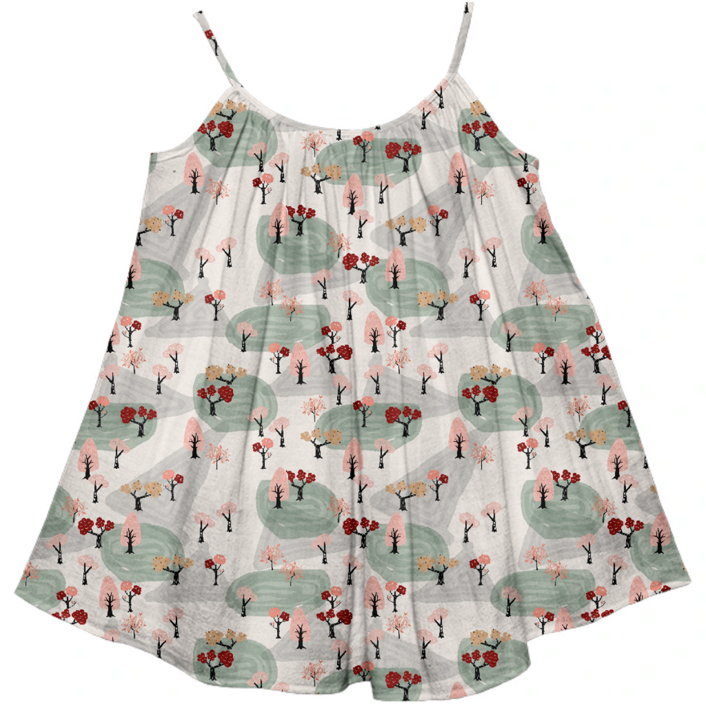 Pink Spring Forest Kid's Dress