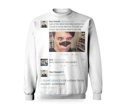 Dan Howell Emo Rudolph Tweet Sweatshirt