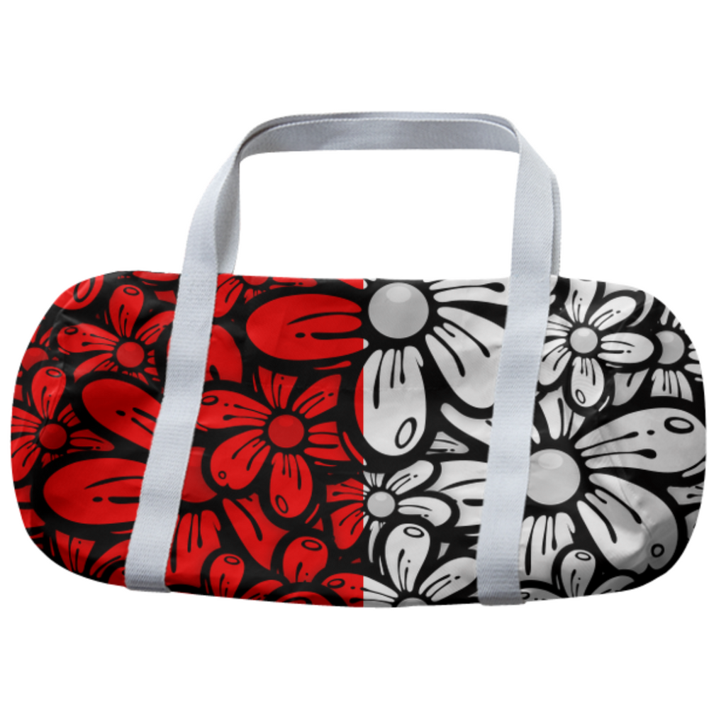 Color Block Daisy Duffel Bag