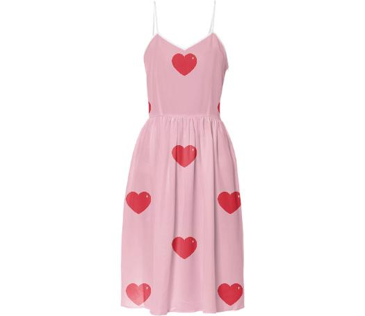 Heart Attack Summer Dress Repeat Med Pink