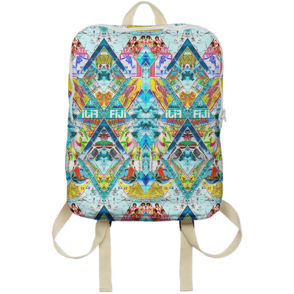 PAOM, Print All Over Me, digital print, design, fashion, style, collaboration, babyboofiji, Backpack, Backpack, Backpack, Travel, Fiji, autumn winter spring summer, unisex, Poly, Bags