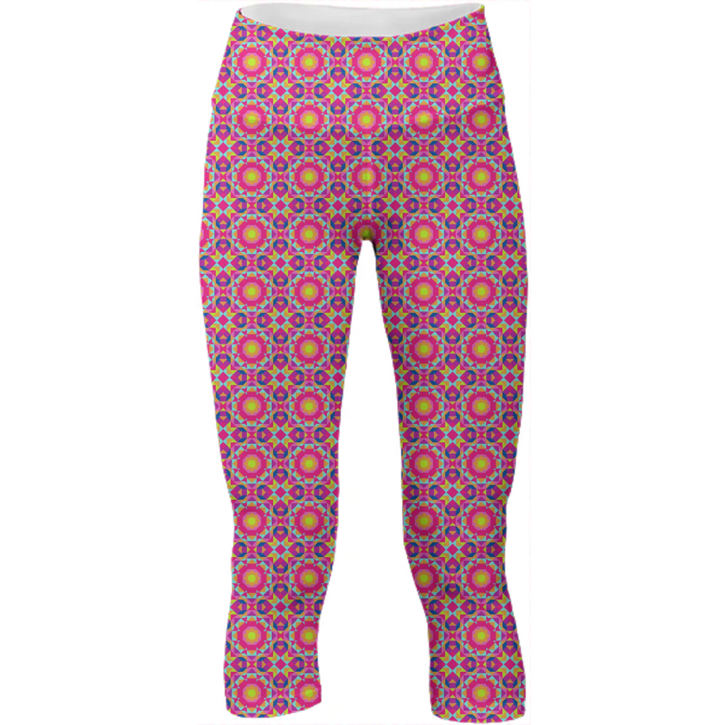 Neon Pattern Yoga Pants #1