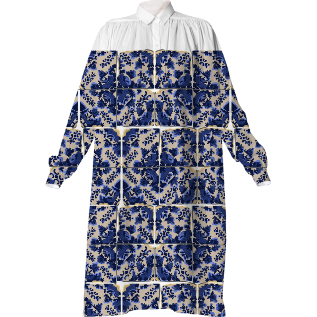 ShirtDress BlueTileBlock
