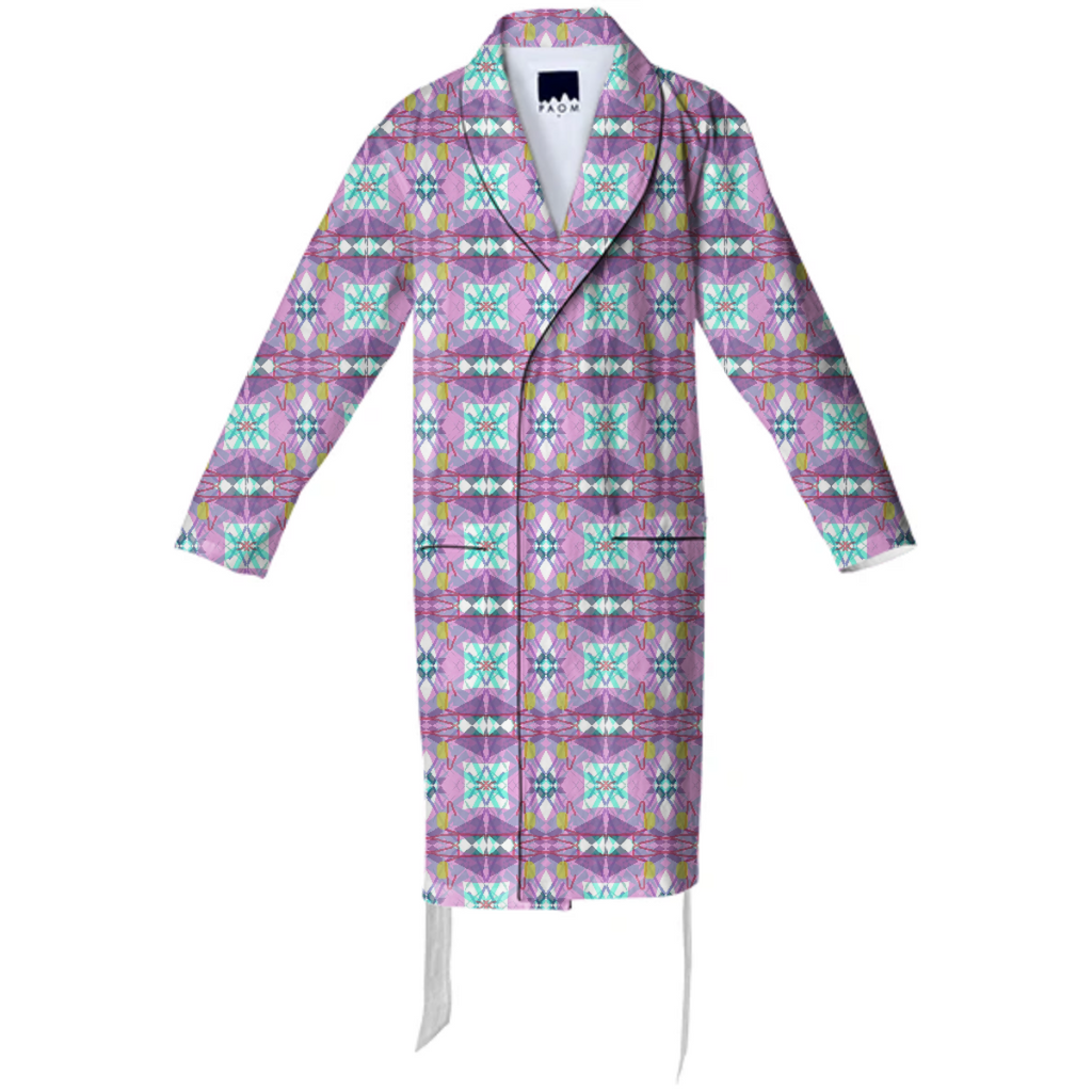 Pink Country Quilt Cotton Robe
