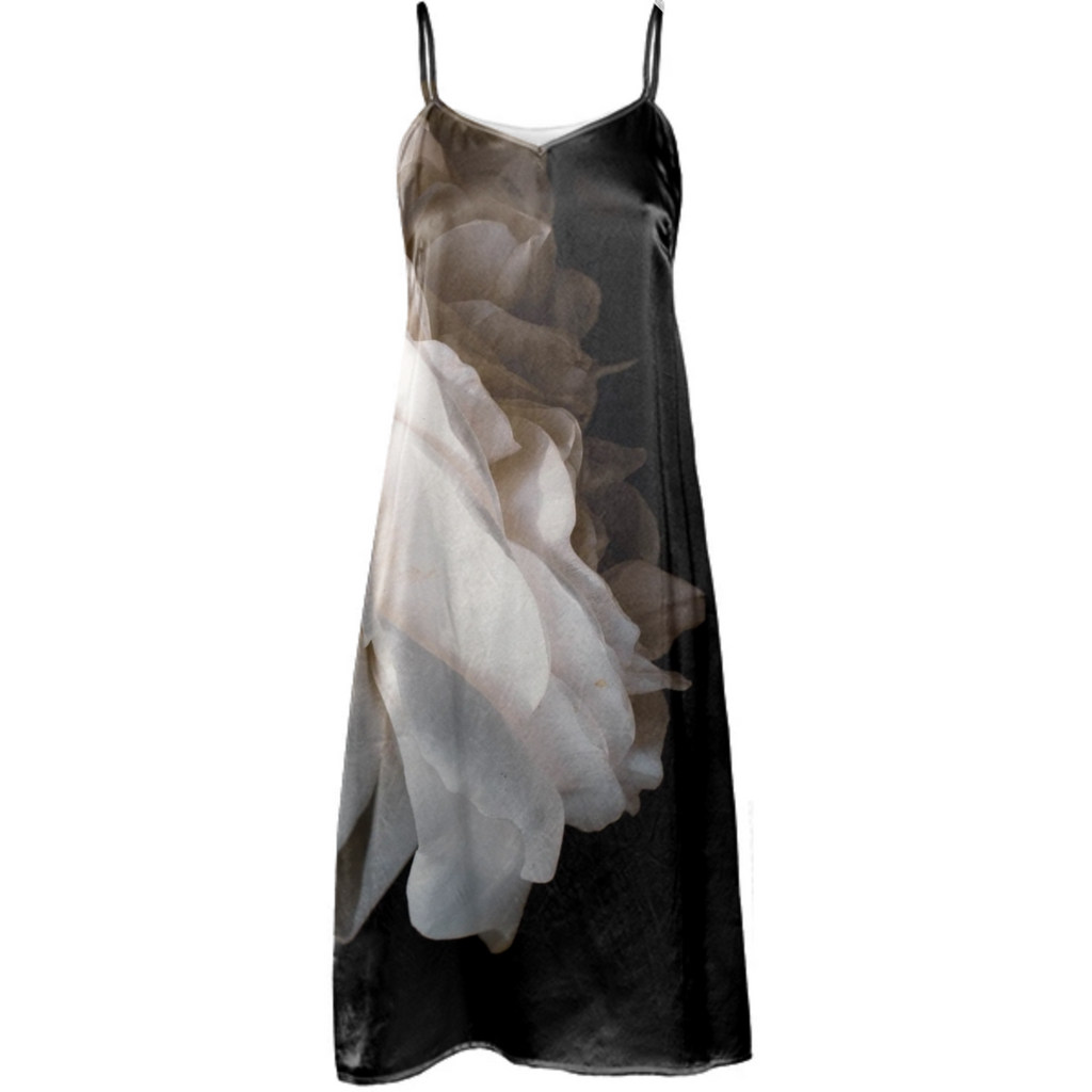 White Rose Slip Dress