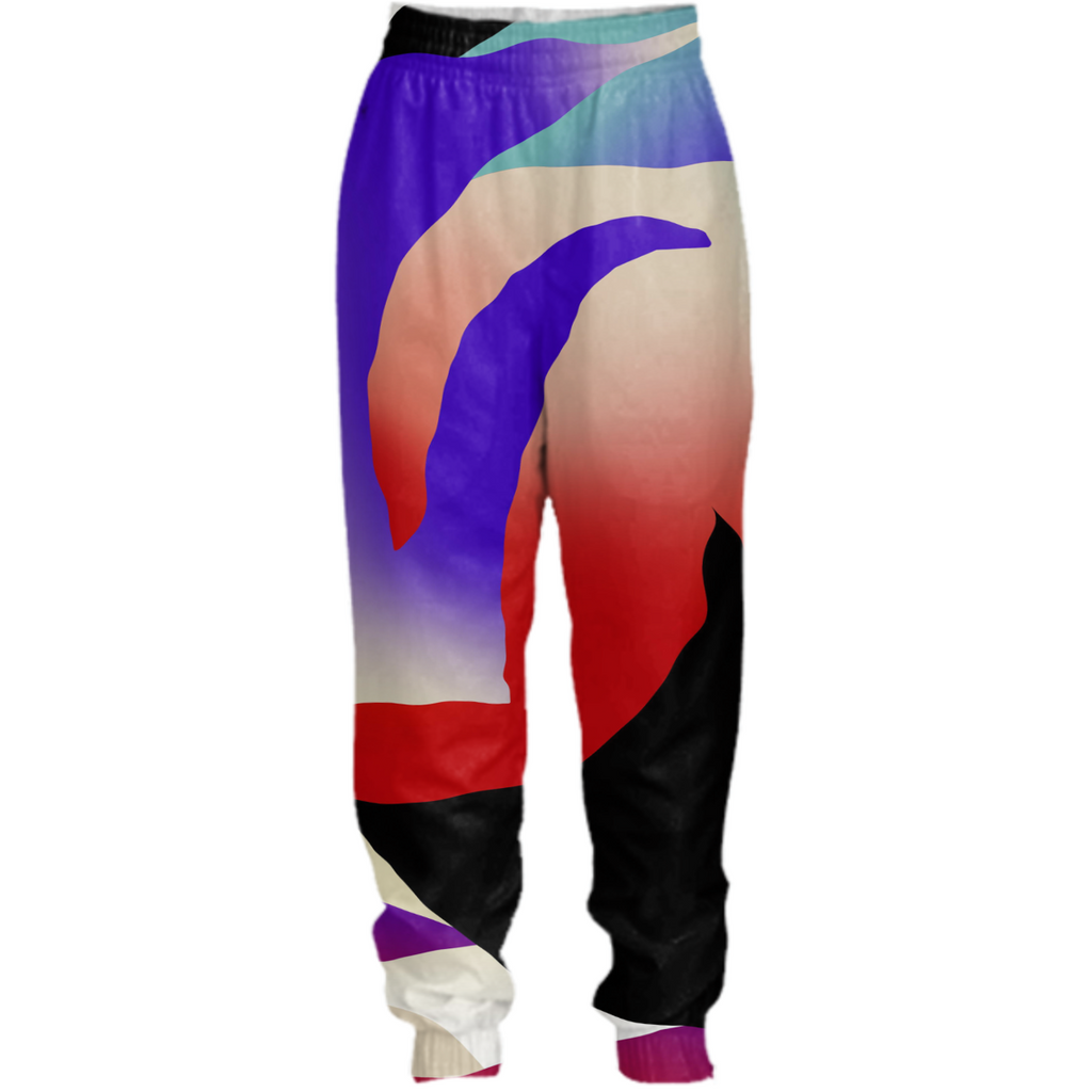 PAOM, Print All Over Me, digital print, design, fashion, style, collaboration, gambette, Tracksuit Pant, Tracksuit-Pant, TracksuitPant, AURORA, autumn winter spring summer, unisex, Nylon, Bottoms