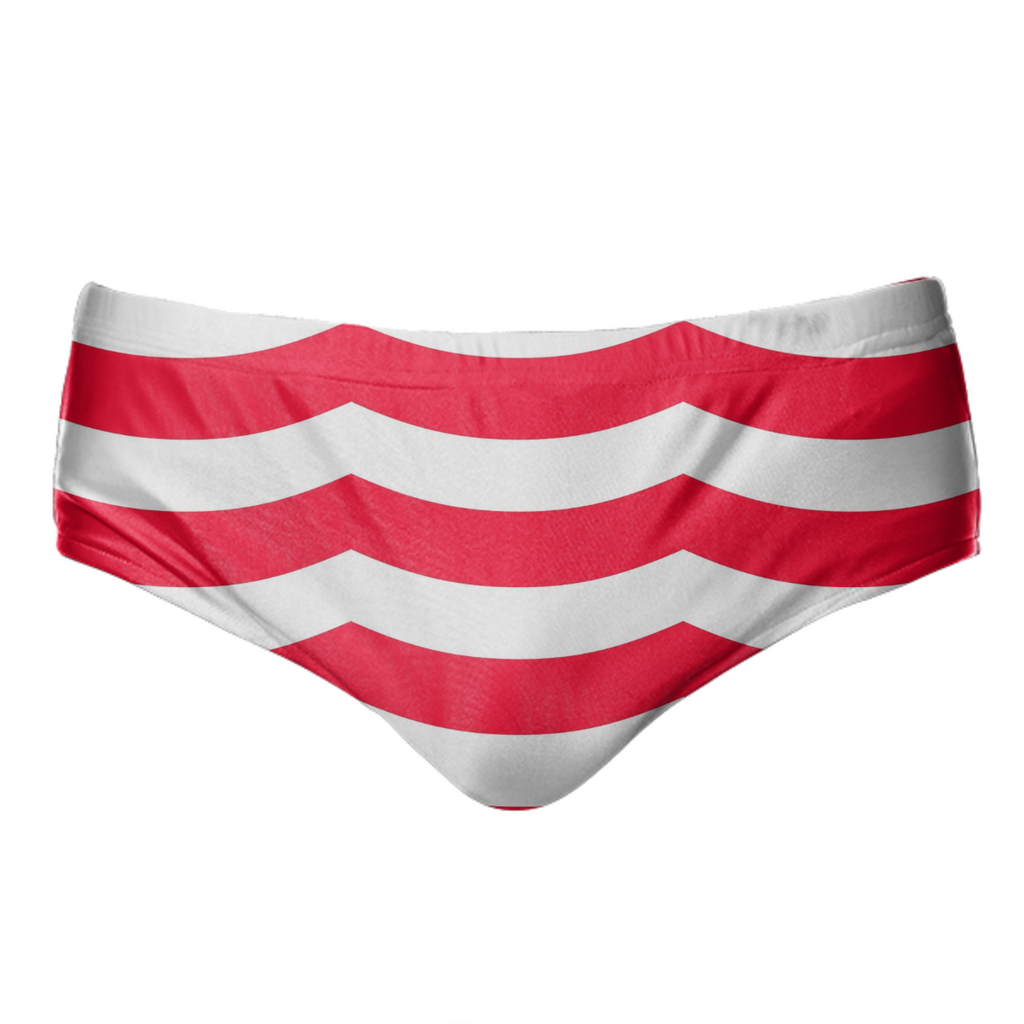 3 Large Wave Red White