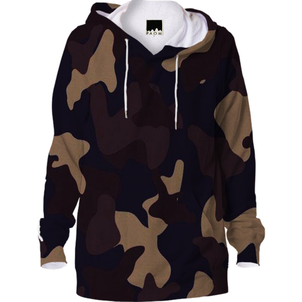 army texture design on hoodie