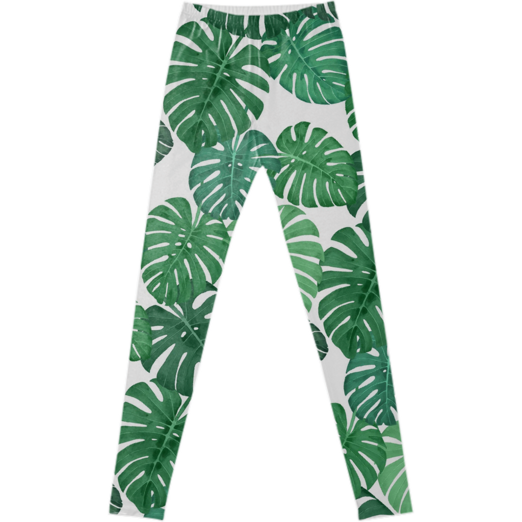 Monstera Jungle Fancy Leggings by Frank-Joseph