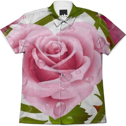 Tribal Rose Men s Shirt II PINK
