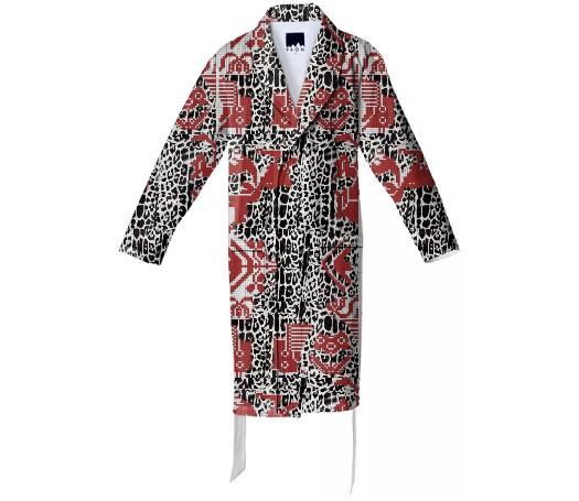 TRACY PORTER LIPSTICK LEOPARDS ROBE