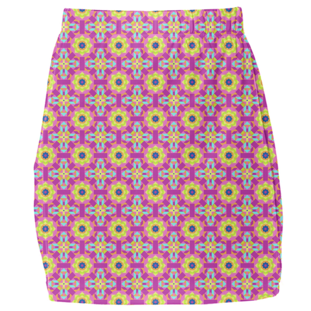 Neon Pattern Mini Tube Skirt #4
