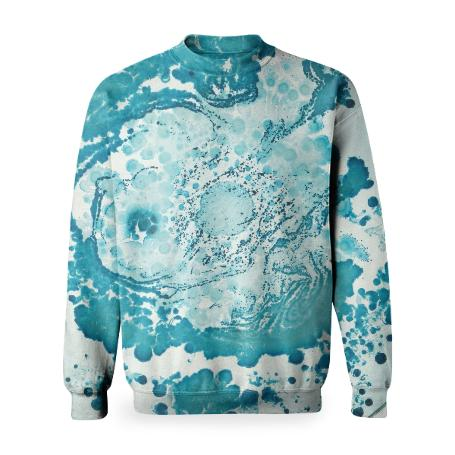 PAOM, Print All Over Me, digital print, design, fashion, style, collaboration, daninolab, Basic Sweatshirt, Basic-Sweatshirt, BasicSweatshirt, Bacteria, autumn winter, unisex, Poly, Tops