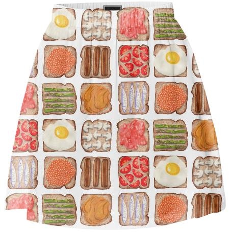 Breakfast Toast Summer Skirt