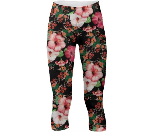 Floral Pattern Yoga Pants