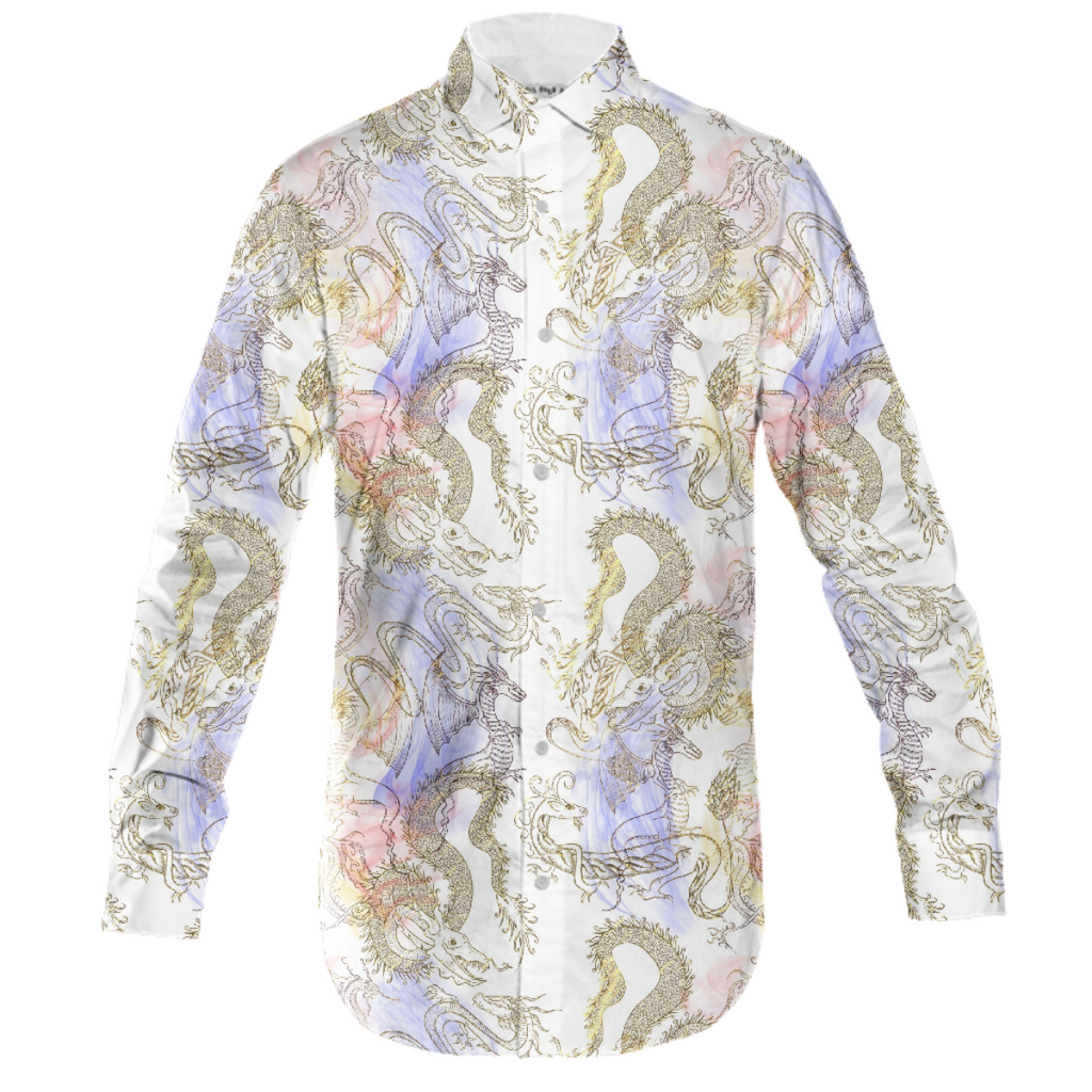 Smoke and Dragons Mens Button Down
