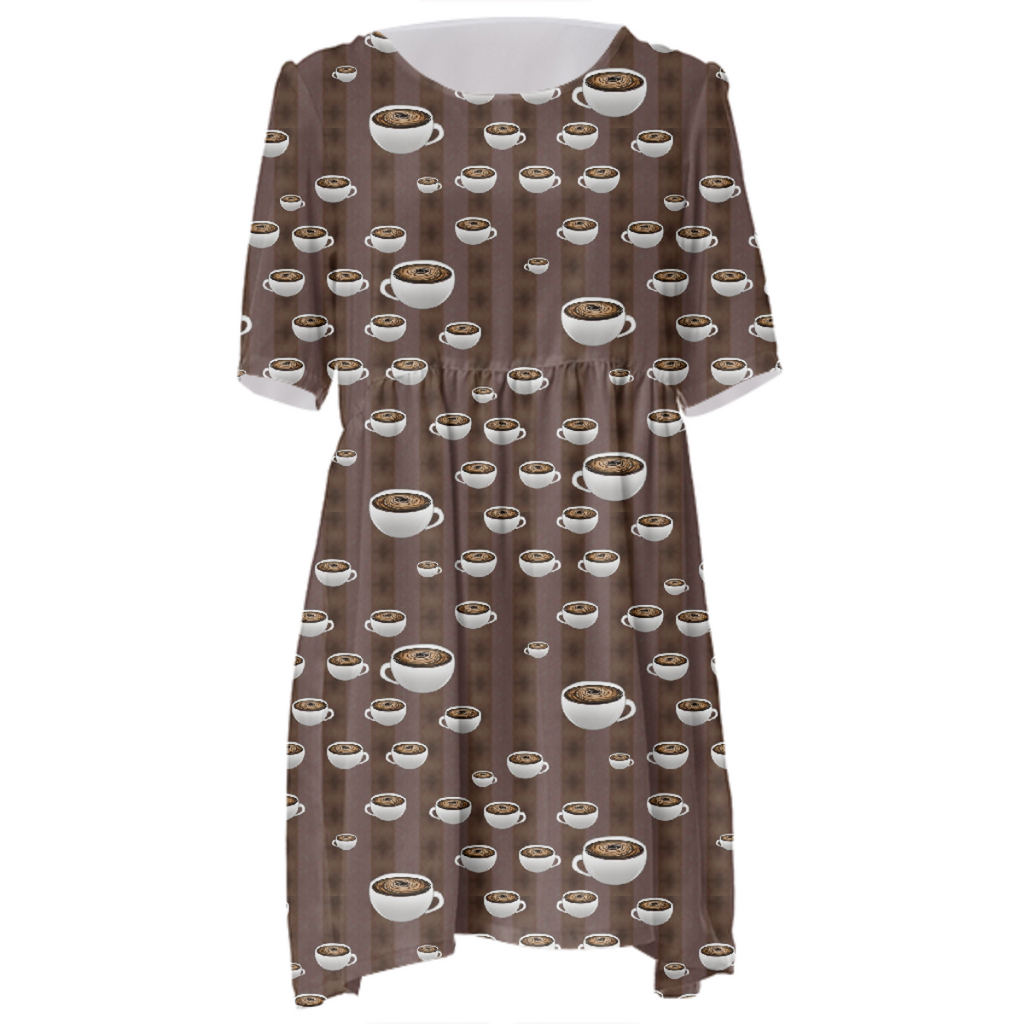 True Coffee Repeat Babydoll Dress