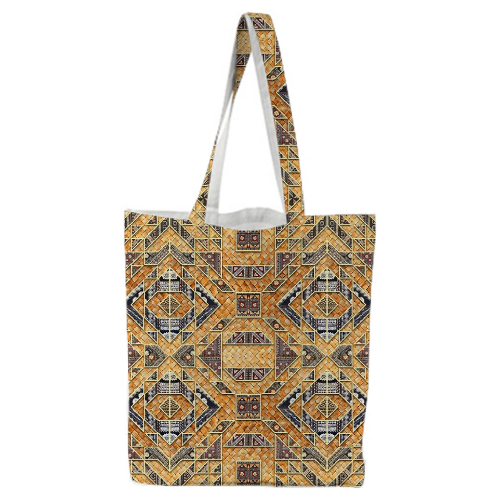 PAOM, Print All Over Me, digital print, design, fashion, style, collaboration, babyboofiji, Tote Bag, Tote-Bag, ToteBag, Fiji, Masi, Woven, Palm, Leaf, Matt, autumn winter spring summer, unisex, Poly, Bags