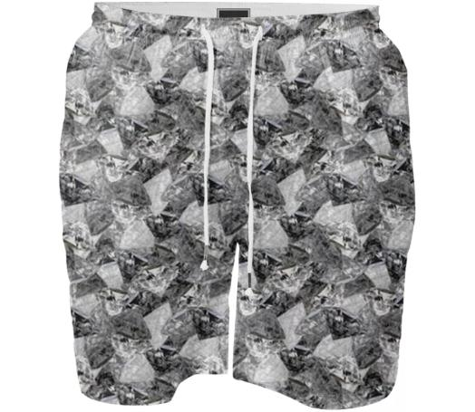 Digital Diamonds Swim Shorts