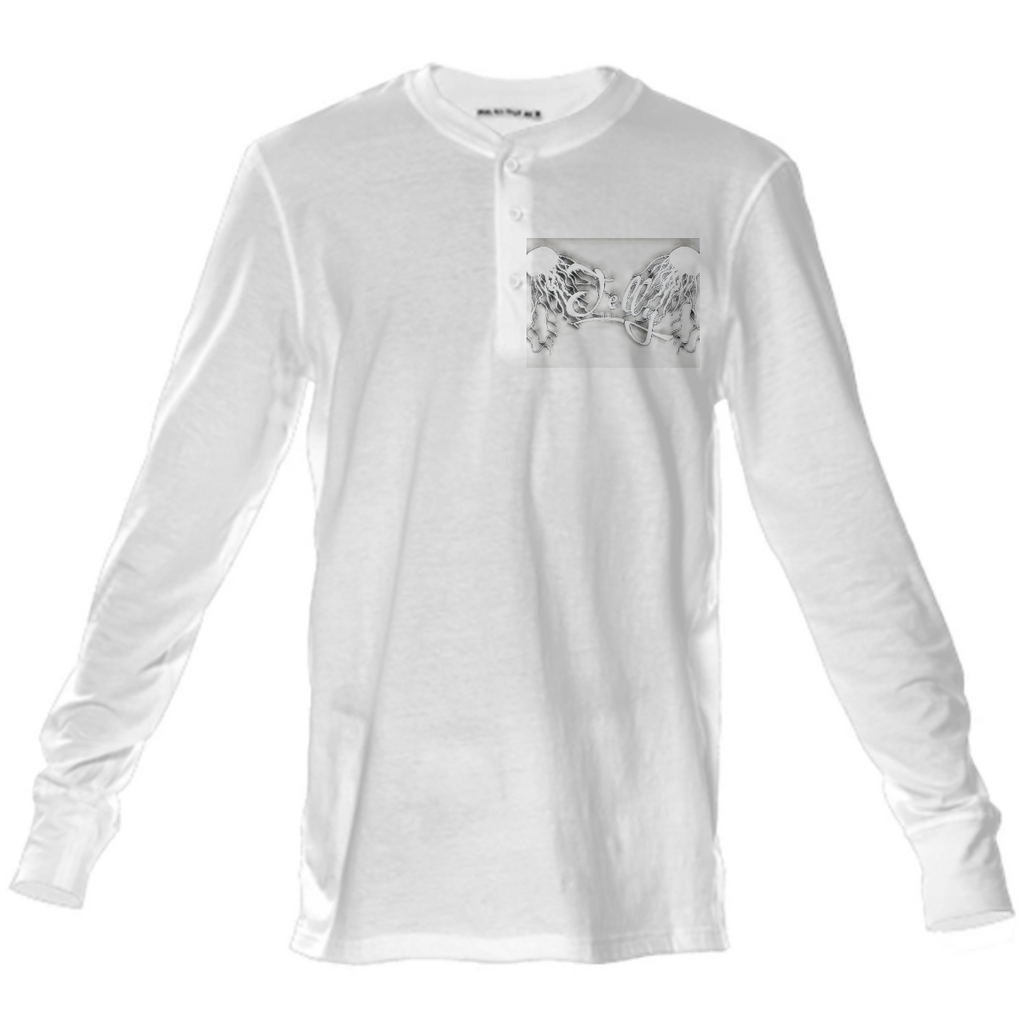 White Jelly Henley Long Sleeve Shirt