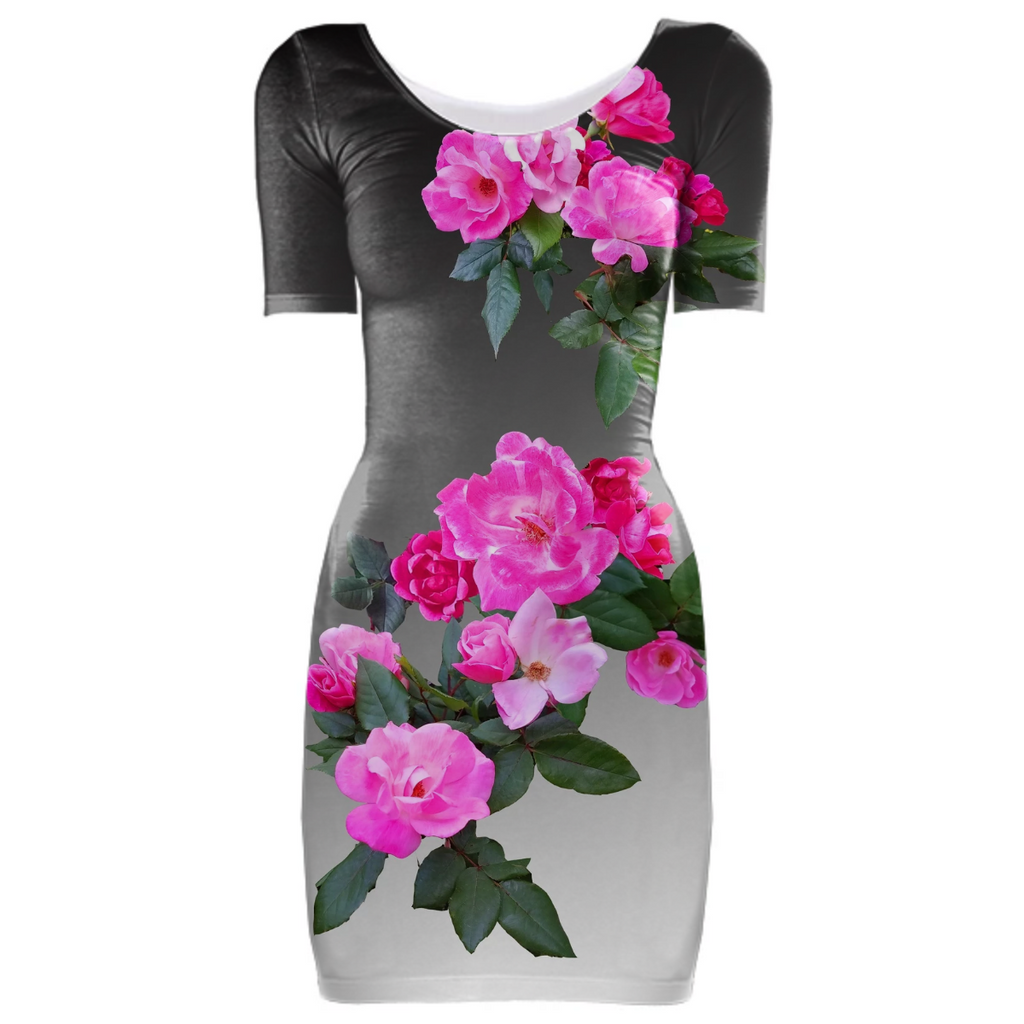 Roses for Days Ombre Bodycon Dress