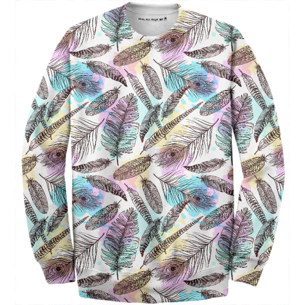 Tribal Pastels Cotton Sweatshirt