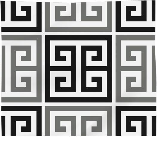 Gray Black And White Greek Key Motif