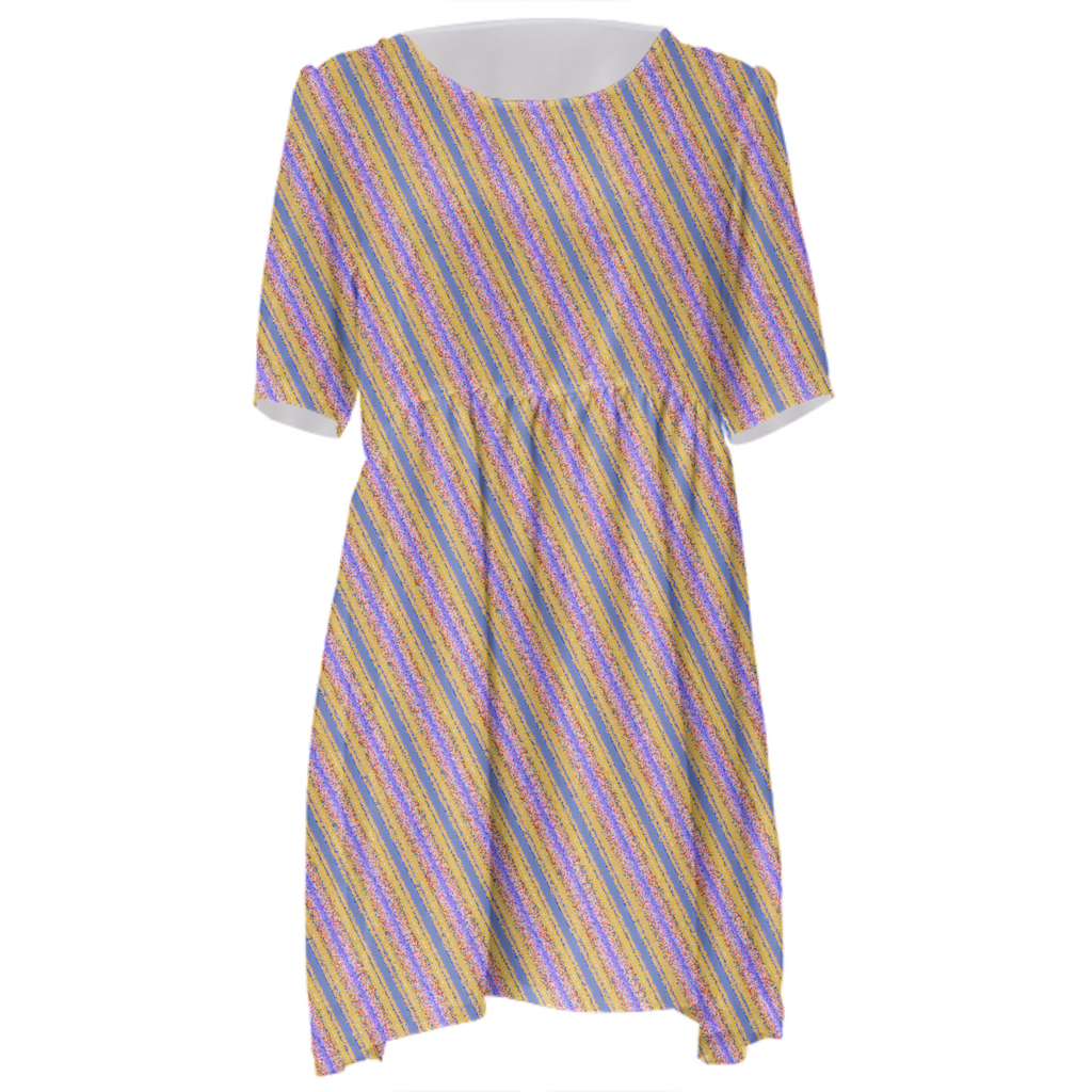 Energetic Stripes Babydoll Dress