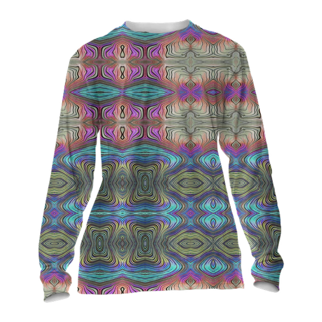 Mystic Blue and Pink Cuffed Longsleeve