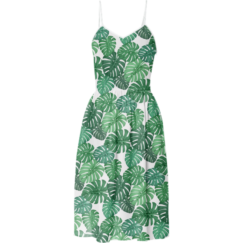 Monstera Jungle Summer Dress by Frank-Joseph