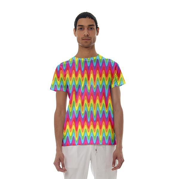 Drippy Rainbow Basic T Shirt
