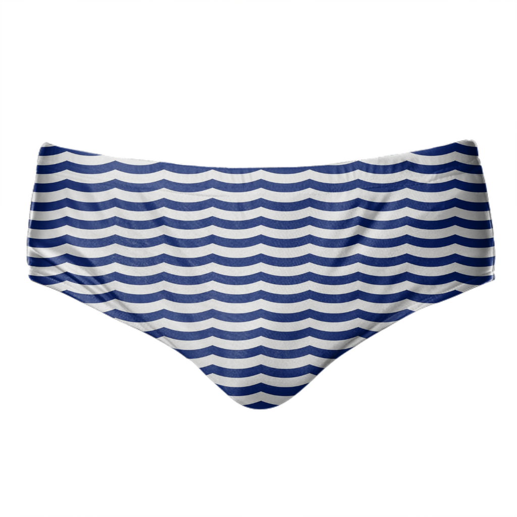 1.2d Sml Waves Navy White