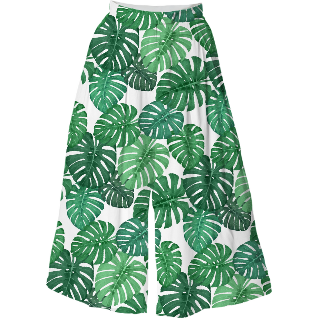 Monstera Jungle Culotte by Frank-Joseph