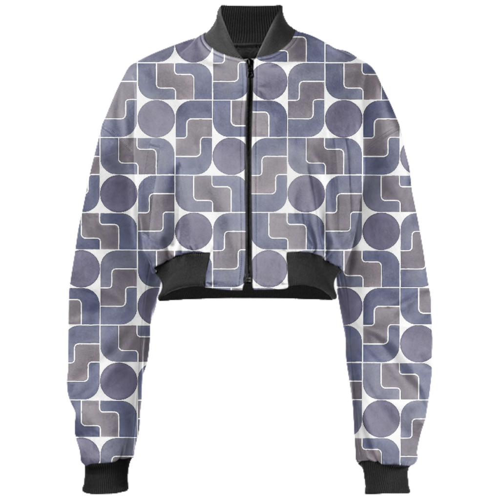 Monte Albán Mod cropped bomber jacket by Frank-Joseph