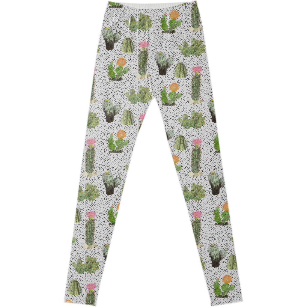 Cactus with Sprinkles Leggings StitchPrism