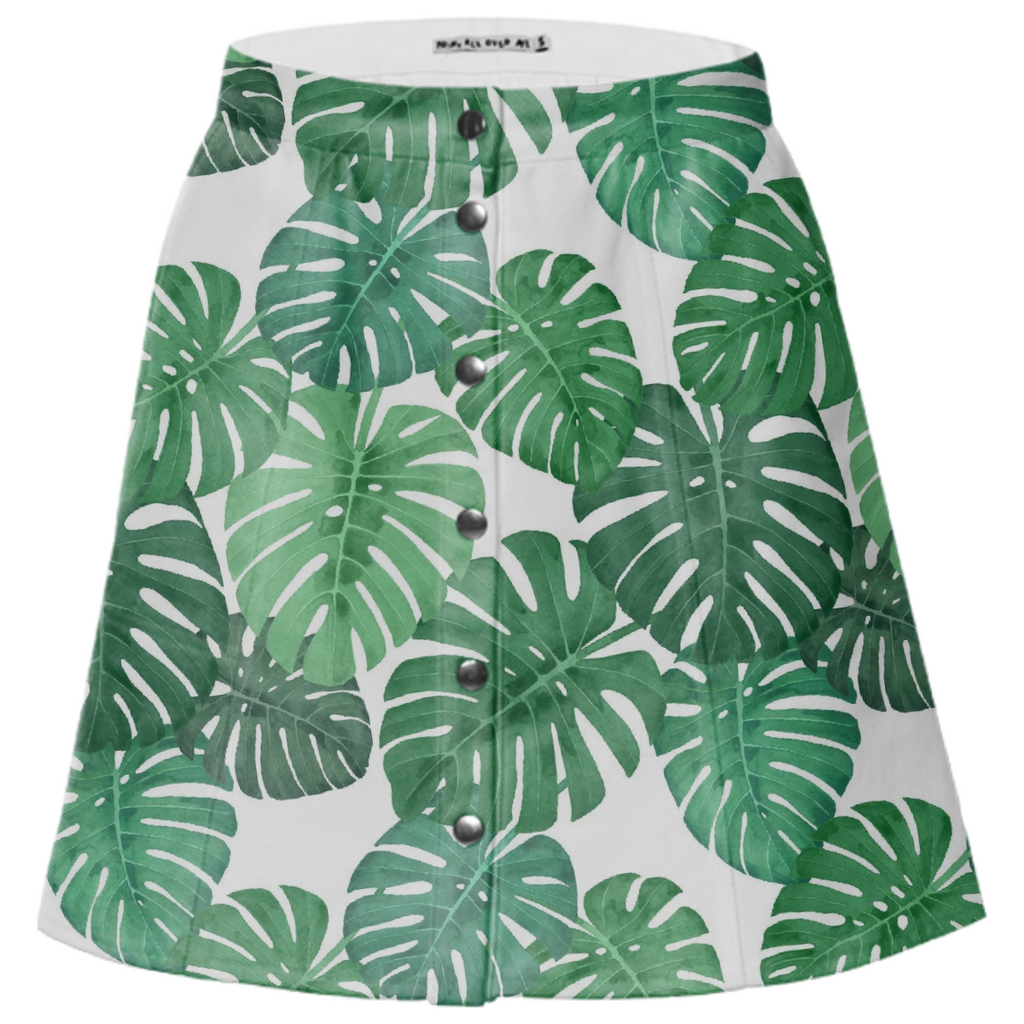 Monstera Jungle Mini-Skirt by Frank-Joseph