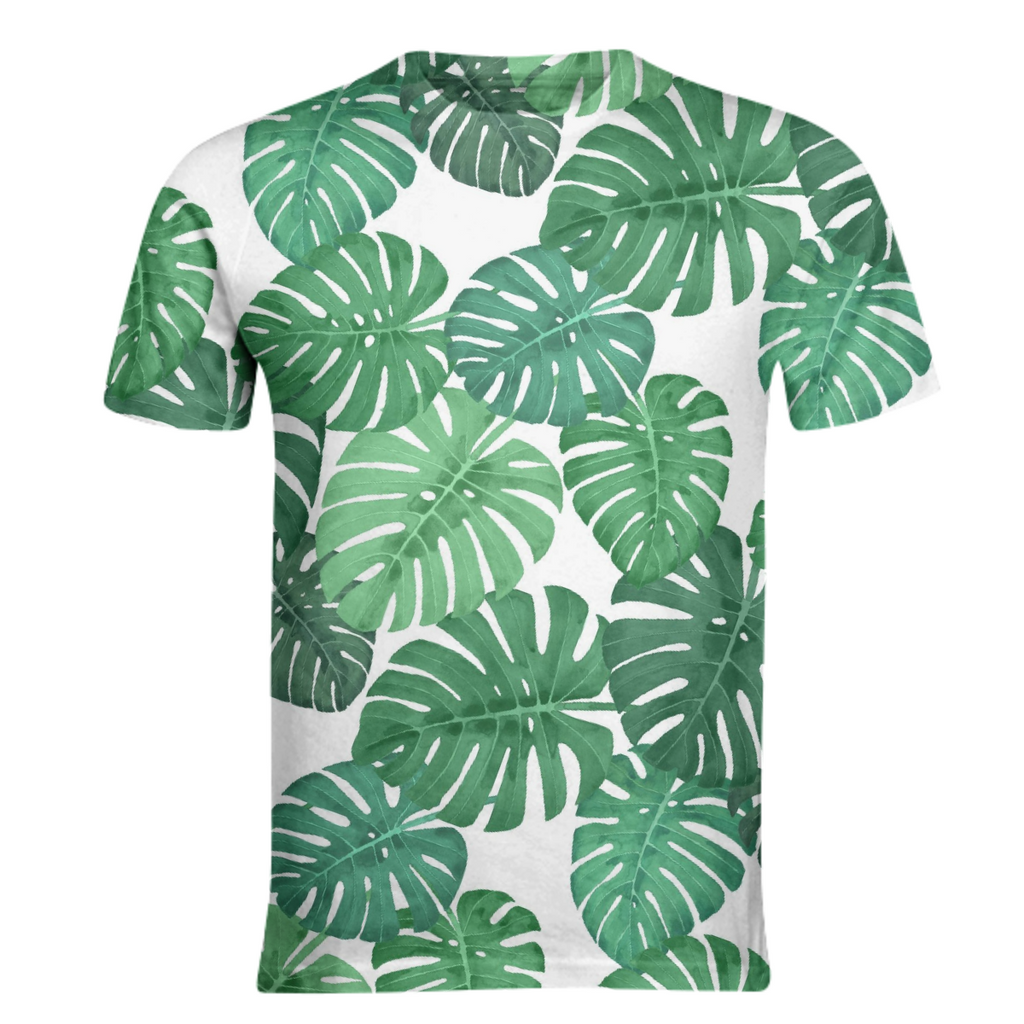 Monstera Jungle Basic T-Shirt by Frank-Joseph