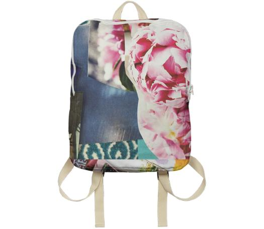 Peony Collage Backpack