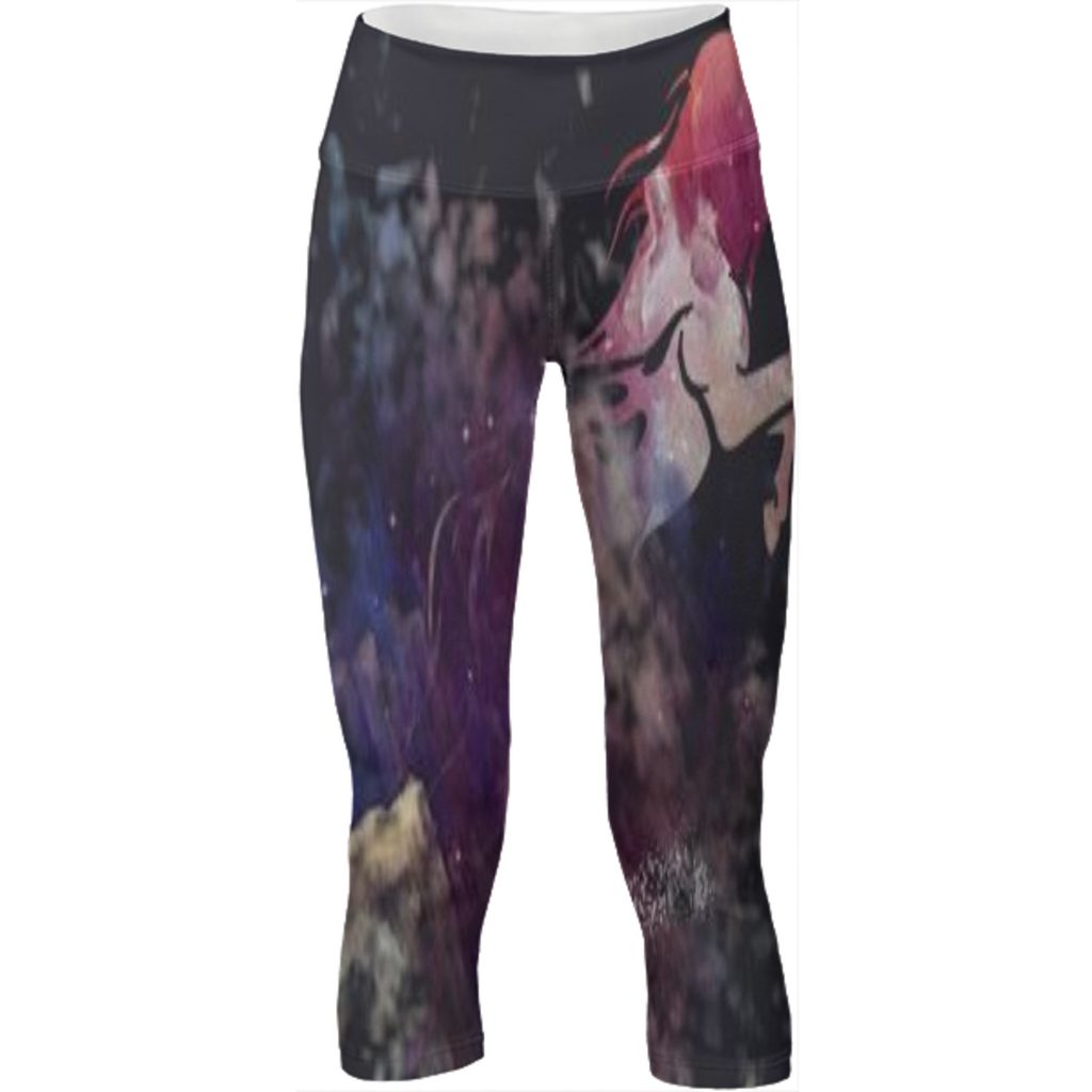 jumping horse universe design on yoga pants