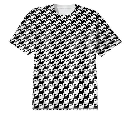 Shark Checkers Black White