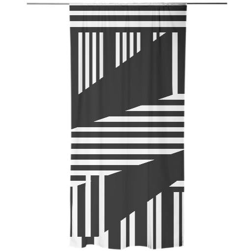 Various Black and White Striped Design