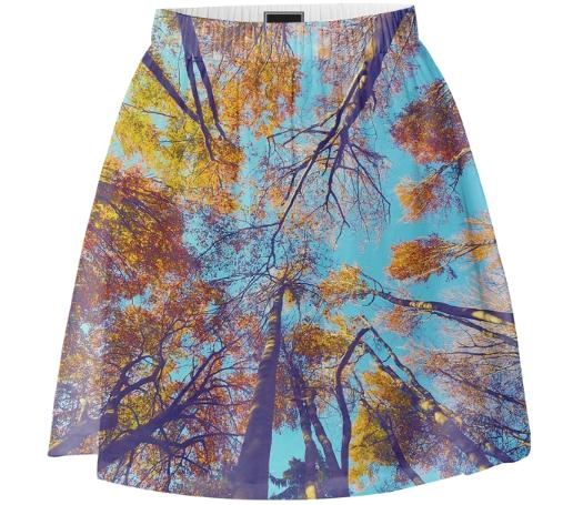 Blue Autumn Summer Skirt