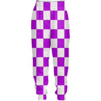 BRIGHT PURPLE GINGHAM Tracksuit Pants