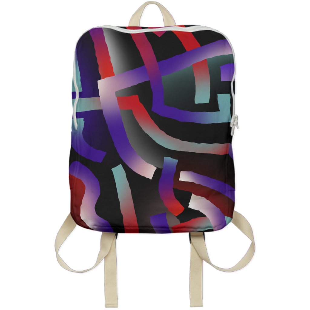 PAOM, Print All Over Me, digital print, design, fashion, style, collaboration, gambette, Backpack, Backpack, Backpack, Nébuleuse, autumn winter spring summer, unisex, Poly, Bags
