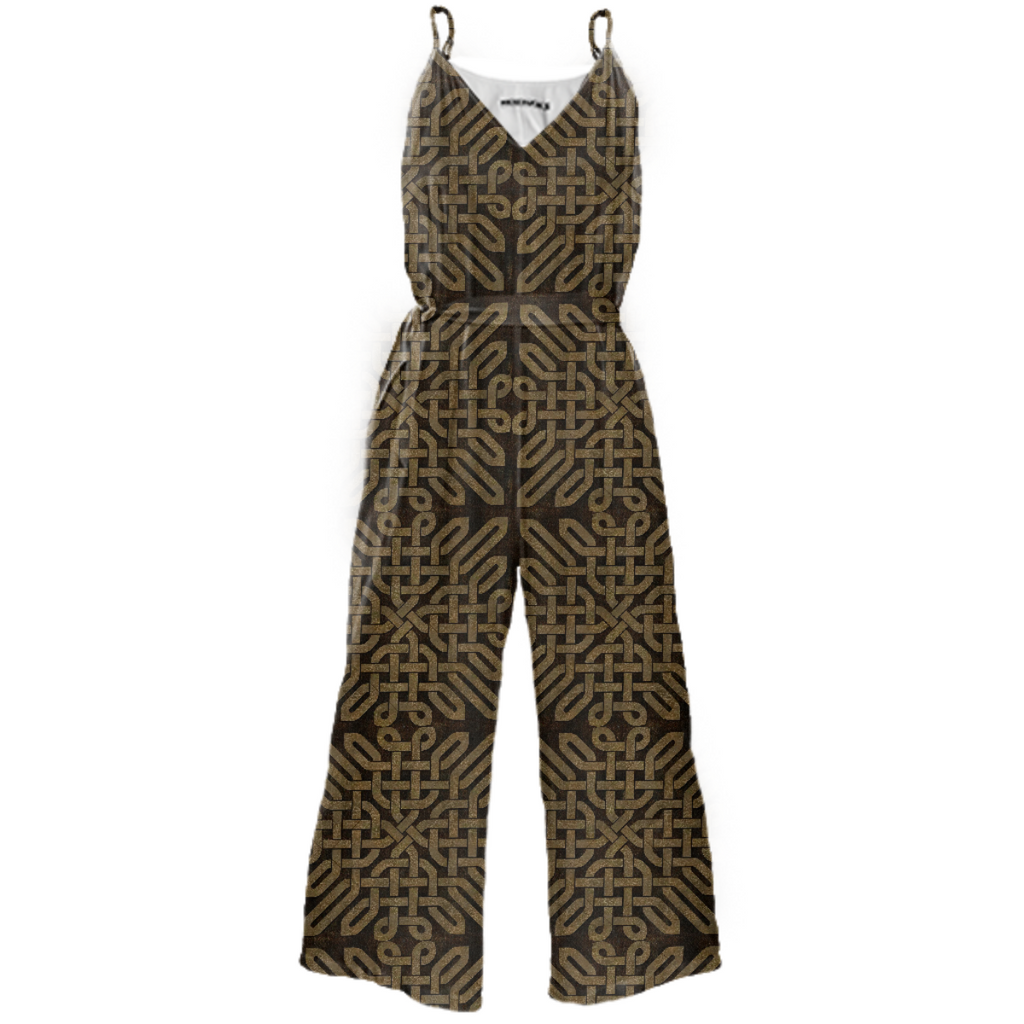 Light Celtic Knot Tie Waist Jumpsuit