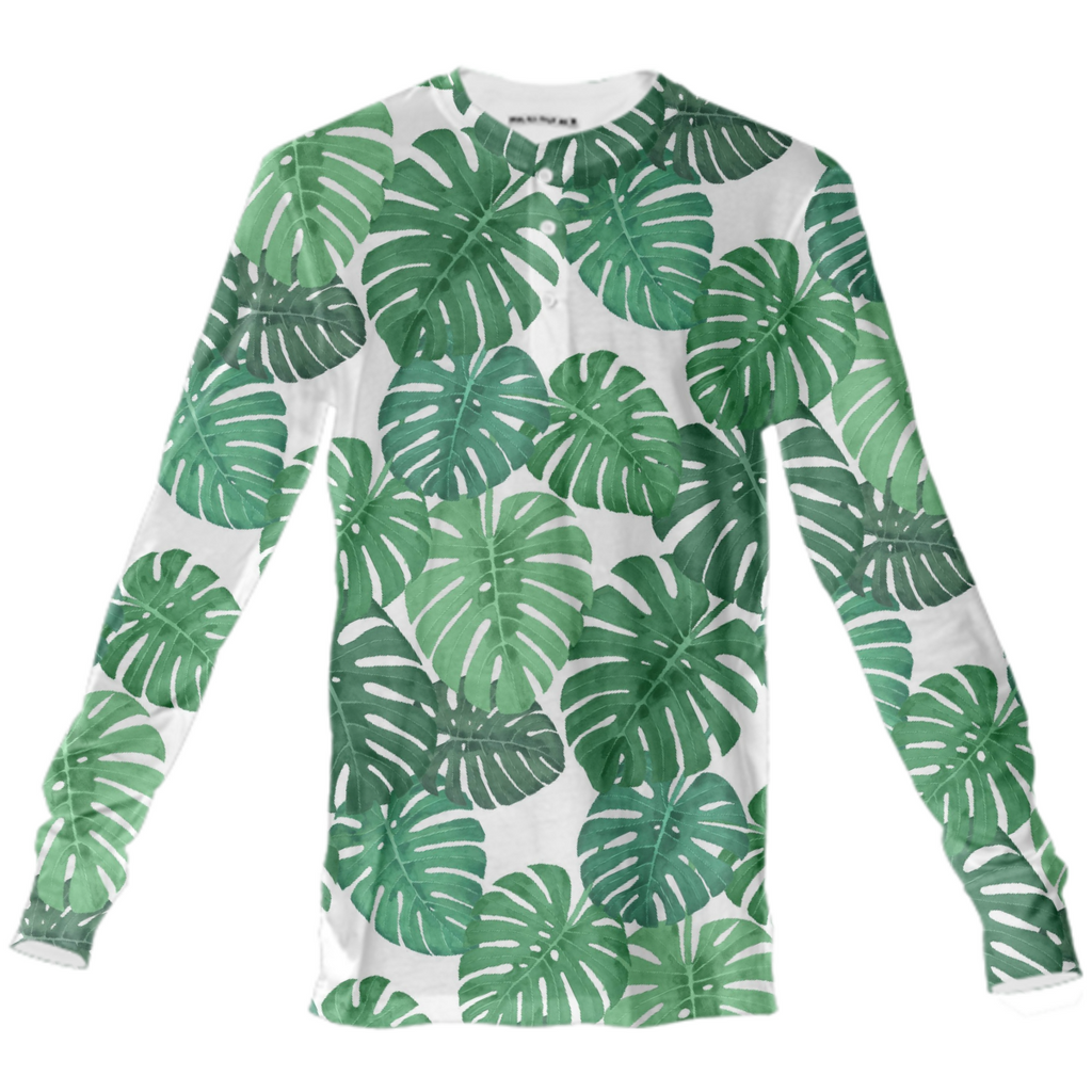 Monstera Jungle Henley by Frank-Joseph