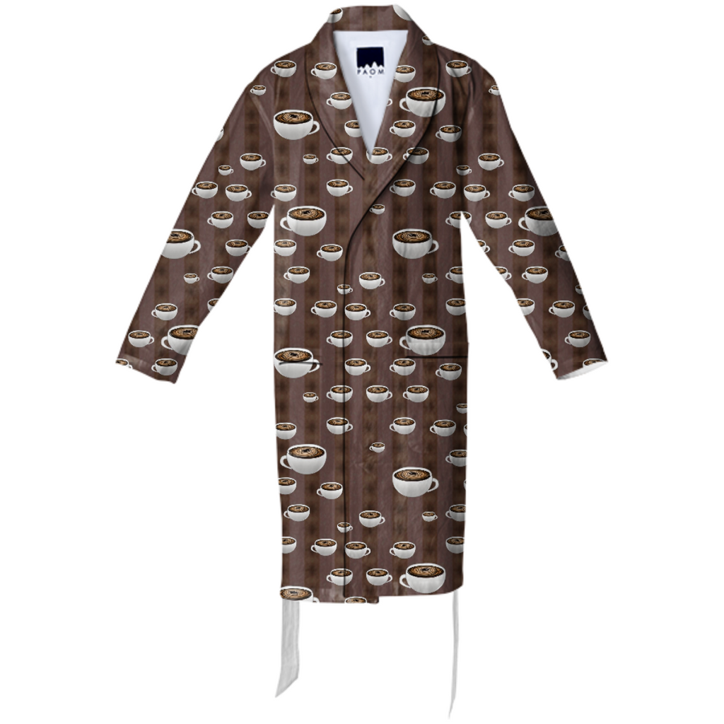 True Coffee Repeat Cotton Robe