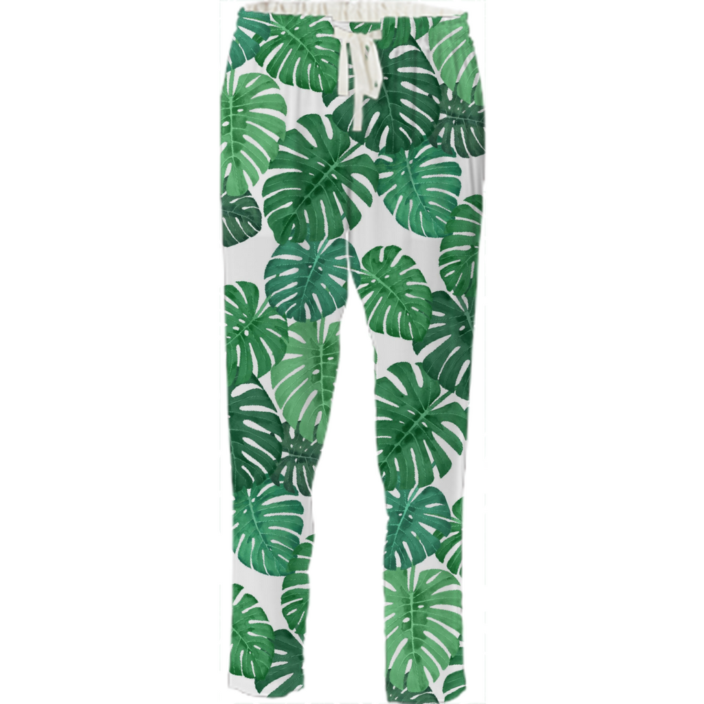 Monstera Jungle Drawstring Pant by Frank-Joseph